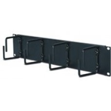2U Horizontal Cable Organizer Black